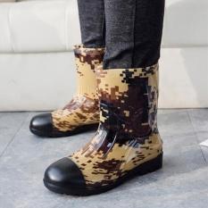 STS Pria Kamuflase Rain Boots-Kuning Kamuflase-Intl