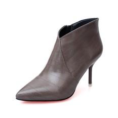 Stylesowner Baru Kedatangan Korea Gaya Karir Baru Wanita Pendek Boots Thin Heels Manis High Heels Warna Solid Fashion Ankle Boots -Intl