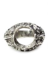 Sudanayasa Silver - Ring - Emban Motif Rangda1 Silver