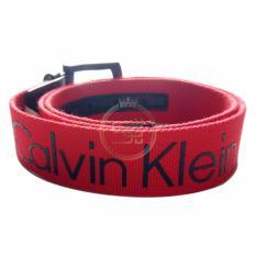 Sugu Ikat Pinggang Calvin Klein Canvas Reversible Merah
