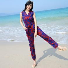 Jual Beli Suihua Pantai Bagian Tipis Perkakas Sepotong Celana Perempuan Celana Panjang Ungu