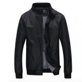 Beli Barang Sukacita Jaket Pria Jaket Fashion Tipis Hitam Online