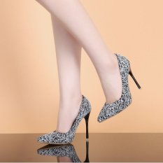 Sukacita Super Sepatu Hak Tinggi OL Menunjuk Tema Kotak-kotak Sepatu For Sepatu Wanita-ต่างประเทศ