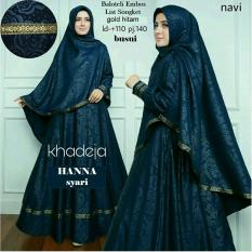 Suki Baju Gamis Muslim Hanna Syari'I / Dress Muslimah / Hijab Muslim / Gamis Syari'I / Baju Gamis / Fashion Muslim / Setelan Muslim / Hijab Wanita / Baju Muslim / Maxi Gamis / Fashion Muslim
