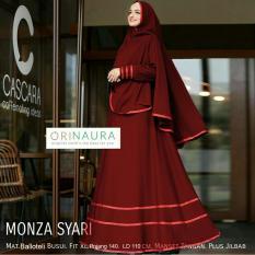 Suki Baju Gamis Muslim Monza  / Dress Muslimah / Hijab Muslim / Gamis Syari'I / Baju Gamis / Fashion Muslim / Setelan Muslim / Hijab Wanita / Baju Muslim / Maxi Gamis / Fashion Muslim / Syari'I