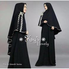 Suki Dress Gamis Renda Lovel - Black