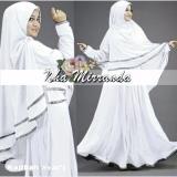 Miliki Segera Suki Dress Maxi Gamis Syari I Naji White