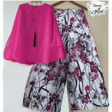 Jual Suki Stelan 2In1 Blouse Dan Kulot Flower Graces Fanta Baru