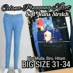 Spesifikasi Sumberrejekijeans De Jeans Celana Jeans Panjang Wanita Model Pinggang Karet Bahan Soft Jeans Bagus Stretch Melar Yang Bagus