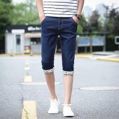 Musim Panas 2017 Baru Daftar Shorts Casual Fashion Pria Celana Denim Nyaman Slim Tipis Pendek Jeans-Intl