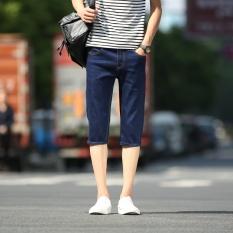 Musim Panas 2017 Baru Daftar Celana Pendek Fashion Men Denim Shorts Nyaman Slim Tipis Celana Pendek Jeans-Intl