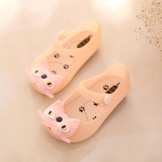 Musim Panas Musim Gugur Lucu Kitty Gadis Kepala Sepatu Jeli Bayi Anak-anak Sandal Lembut