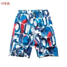 Celana Pantai Musim Panas Lima Pria Celana Longgar Kering Celana Pendek Kasual Ukuran Besar Celana Celana