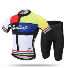 Spesifikasi Musim Panas Sepeda Pendek Lengan Jersesy Set Mountain Bike Pakaian Kuning Intl Online