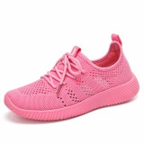 Summer Casual Pria And Wanita Board Sepatu Bersih Kain Sepatu Pasangan Model Pria And Wanita Sepatu Olahraga Hollow Breathable Rendah For Membantu Merajut Sepatu Diskon Tiongkok