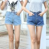 Ulasan Mengenai Musim Panas Fashion Wanita Pants Bang Pendek Wanita Pants Denim Bang Pendek Jeans Usang Biru Internasional Internasional