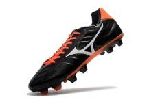 Sepatu Sepak Bola Musim Panas untuk Pria MIZUNO MORELIA NEO Mix FG Rebula V1 FG Soccer Sneakers Ukuran 39-45 (hitam/Merah/Putih) -Intl
