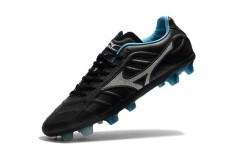 Sepatu Sepak Bola Musim Panas untuk Pria MIZUNO MORELIA Rebula V1 Dibuat Di Jepang MD Soccer Sneakers Ukuran 39-45 (hitam/slivery) -Intl