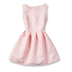 musim panas girls A-line gaun 2017 Eropa dan Amerika putri pakaian untuk gadis anak pakaian remaja pesta kostum (pink)