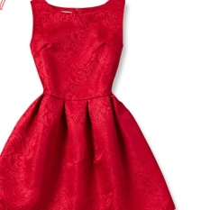 Musim Panas Girls A-line Gaun 2017 Eropa And Amerika A Putri Pakaian For Gadis Anak Pakaian Remaja Pesta Kostum (merah)
