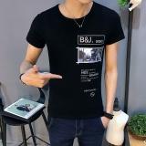 Summer Korea Versi Departemen T Shirt Pria Pria Kemeja Lengan Pendek Lengan Baju T Shirt Pemakaian Lelaki T Shirt Tren Intl Original