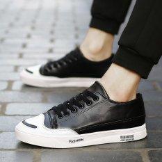 Harga Termurah Musim Panas Renda Up Sneaker Pria Fashion Olahraga Shoes Hitam Intl