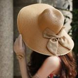 Jual Wanita Musim Panas Matahari Topi Pantai Dan Topi Jerami Lebar Pinggir Boheimia Import