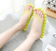 Musim Panas Pijat Non-slip Sandal Pantai Fashion Wanita Sandal untuk Kamar Tidur, Kamar Mandi, Indoor dan Outdoor (kuning) -Intl