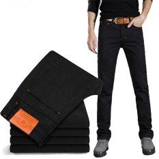 Musim Panas Men Black Jeans Denim Ramping Hitam Intl Terbaru