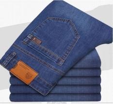 Musim Panas Pria Slim, Lurus, Longgar, Ukuran Besar Jeans-Intl