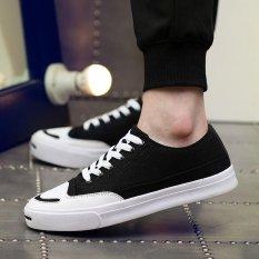 Tips Beli Musim Panas Pria Sneaker Bertali Fashion Sepatu Kanvas Hitam Intl Yang Bagus