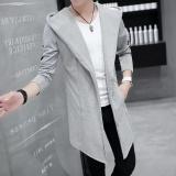 Harga Musim Panas Pria Windbreaker Panjang Mantel Korea Siswa Mantel Tipis Musim Gugur Jubah Musim Dingin Hitam Intl Oem Terbaik