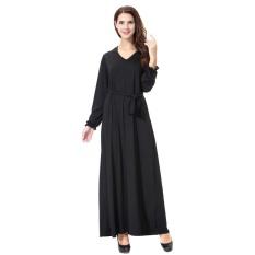 summer-muslim-women-elegant-casual-dress-vintage-maxi-long-robesolid-color-abaya-with-belt-intl-4369-43976542-e06d0cf51fb0c93c735176a52905ae1d-catalog_233 Kumpulan List Harga Long Dress Muslim Casual Paling Baru tahun ini