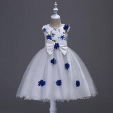 Musim Panas Baru Anak Berpakaian Rok Tiga Dimensi Bunga Net Benang Peng Peng Rok Putri Ulang Tahun Pesta Gaun-Intl