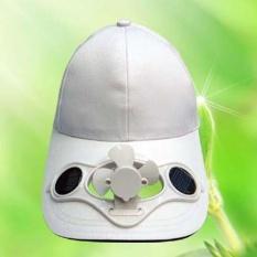 Musim Panas Outdoor Solar Fan Hat Kipas Pendingin Cap untuk Golf Baseball Sport Putih-Intl