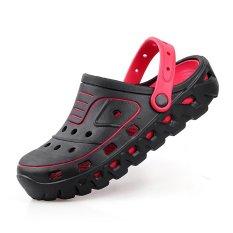 Diskon Musim Panas Sepatu Sandal Pria Merek Sandal Sandal Pantai Pria Hitam Outdoor Slip On Mens Sandal Intl Pinsv