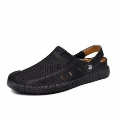 Beli Summer Sandal Pria Kasual Sandal Rekreasi Lembut Slide Kulit Asli Pijat Beach Men Sandal Intl Kredit