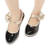 Jual Beli A Musim Panas Gadis Eropa Edisi Princess Tari Sepatu Kulit Flat Sandal High Heel