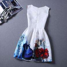 Spesifikasi Gaya Panas Musim Baru Vintage Bunga Cetak Wanita Gaun Musim Panas Gaun Pesta Kasual Rompi Not Specified Terbaru