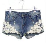 Harga Gaya Musim Panas Wanita Celana Pendek Lace Floral Manik Manik Denim Shorts Rivet Dihiasi Intl Dan Spesifikasinya