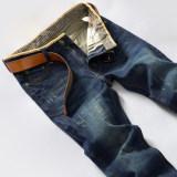Jual Summer Winter Men Thermal Jeans Celana Panjang Celana Kasual Slim Biru Tidak Ada Beludru Model Musim Panas Musim Panas Celana Pria Celana Panjang Pria Celana Jeans Murah