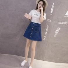 Musim Panas Fashion Wanita Korea Tinggi Pinggang Rok A Line Slim Bodycon Rok Denim Intl Oem Murah Di Indonesia