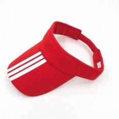 Musim Panas Wanita Olahraga Luar Ruangan Baseball Topi Tenis Anti-UV Visor  Hat Topless Cap 270958f49dfb