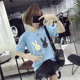 Harga Musim Panas Wanita Kelinci Cetak Tee T Shirt Casual Shirt Intl Origin