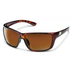Suncloud Anggota Dewan Polarized Sunglasses, Tortoise Frame, Lensa Coklat-Intl