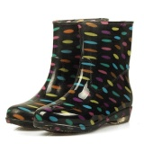 Jual Sunshop Fashion Wanita Waterproof Antiskid Pertengahan Betis Dots Karet Sepatu Wanita Rain Boots 3 Multicolor Intl Online Tiongkok