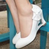 Berapa Harga Sunshop Korea Fashion Women High Wedge Heel Heart Tumit Pompa Bowtie Kantor Pernikahan Bridal Party Sepatu Putih Intl Sunshop Di Tiongkok