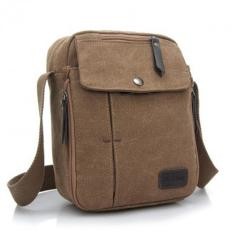 Harga Sunweb 705064 Men Messenger Bag Canvas Outdoor Travel Bag Coffee Murah