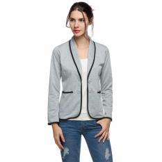 Harga Sunweb Fashion Blazer Wanita Spring Slim Desain Pendek Abu Abu Blazer Jaket Mantel Grey Dan Spesifikasinya
