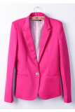 Beli Sunweb Fashion Women Candy Color Basic Coat Slim Blazer Rose Red Terbaru